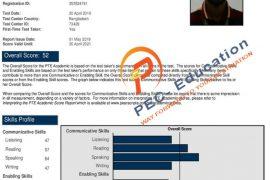 PTE score card