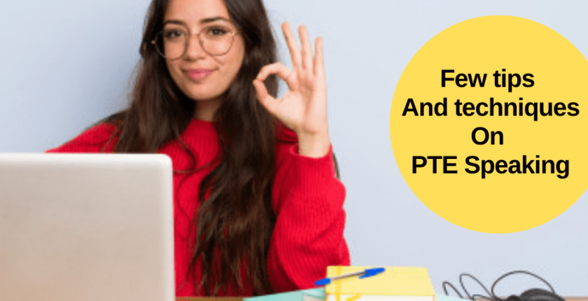 Tips and techniques in PTE Speaking