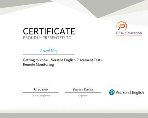VEPT Training Certificate